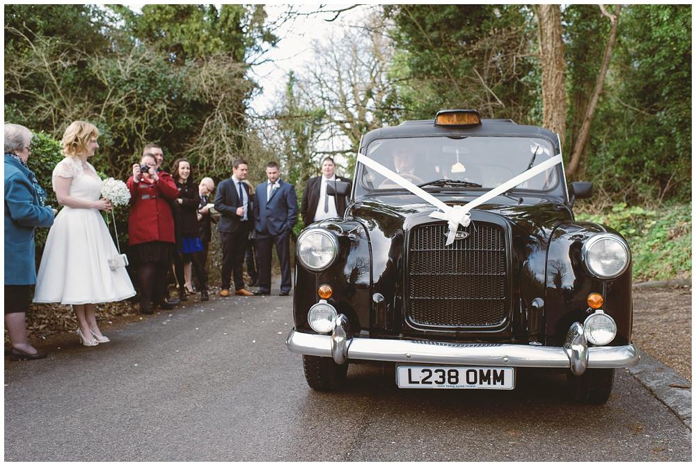 London taxi at weddings