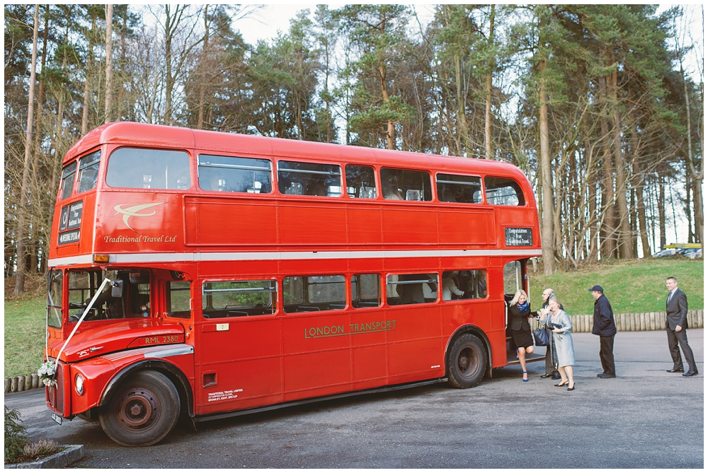 routemaster buses at weddings