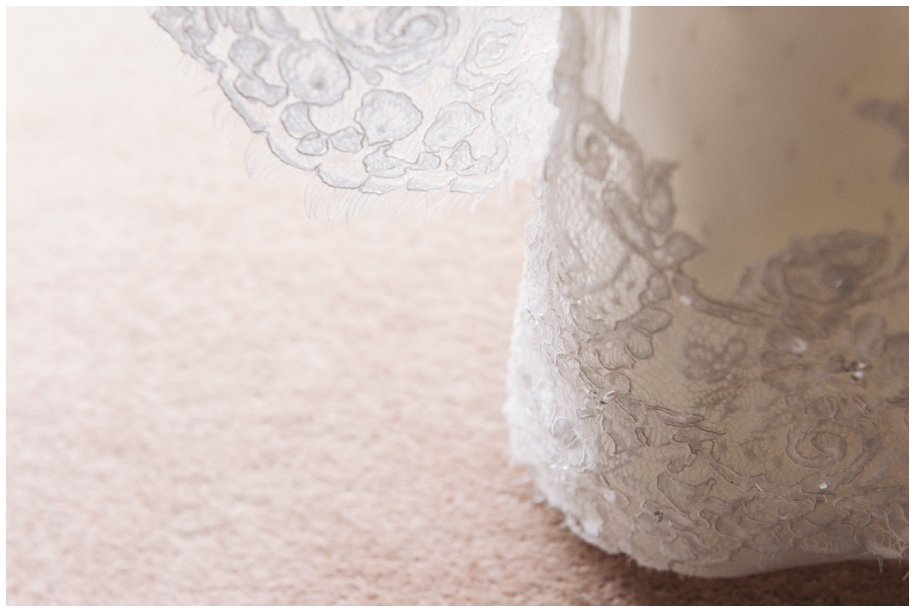 lace edging on wedding dress