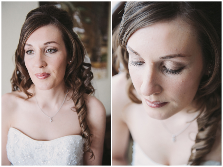 bridal portraits at winter weddings