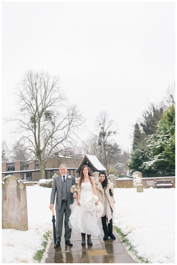 Snow on your wedding day