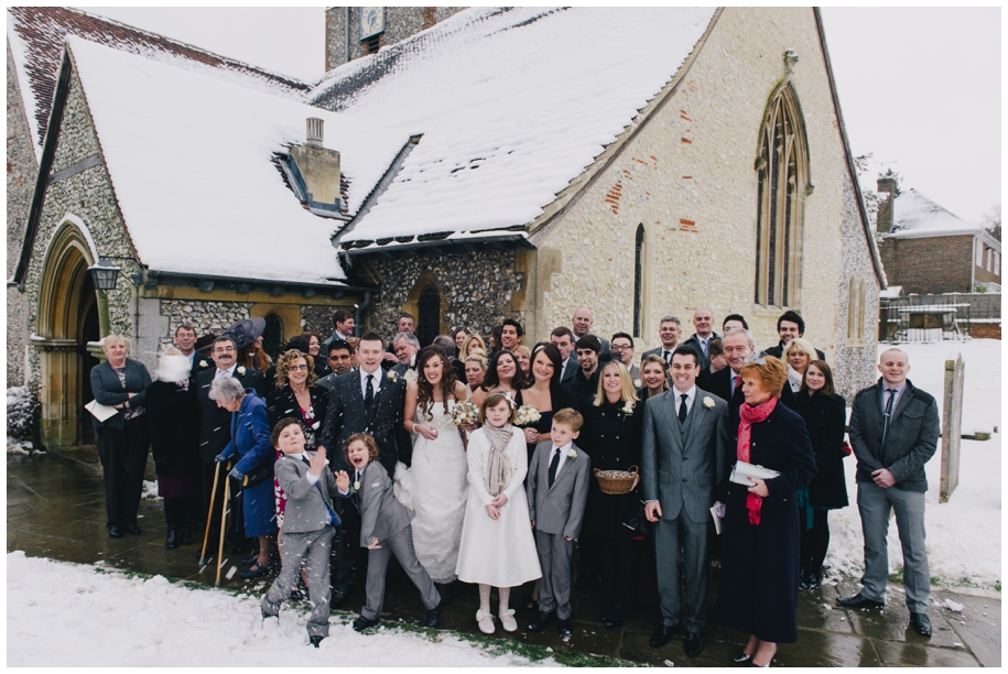 St Mary's Church Fetcham, winter weddings