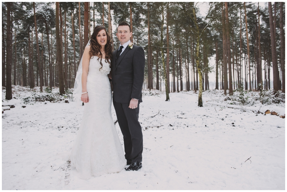 wedding photography in winter Surrey