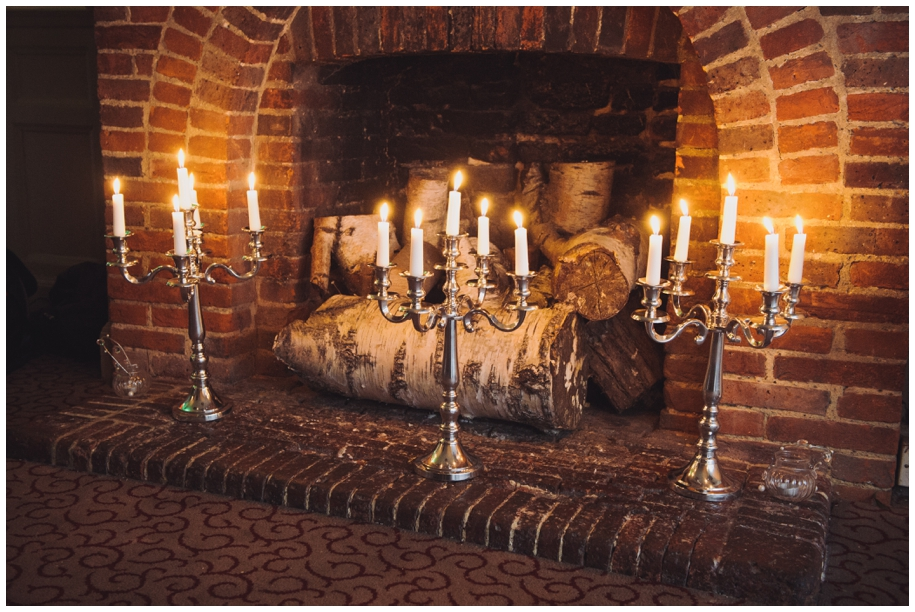 silver candlesticks for winter weddings