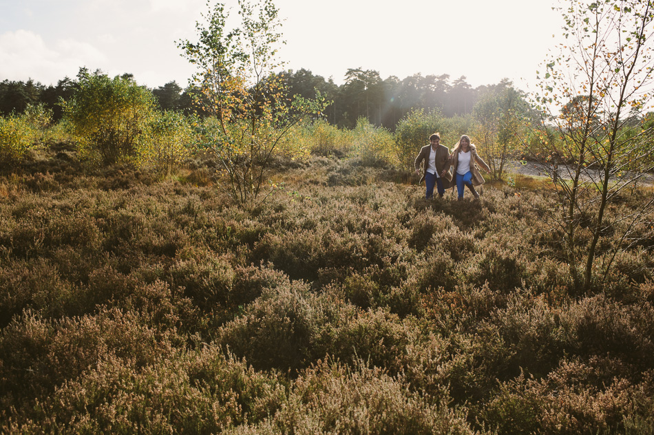 pre wed shoot in countryside