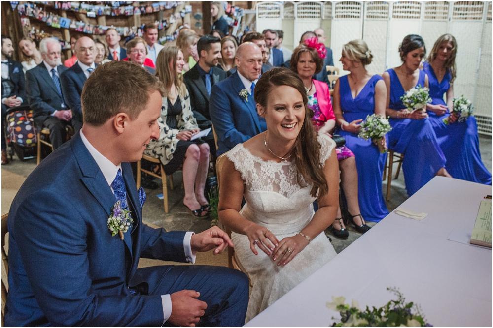 wedding ceremony Herons Farm