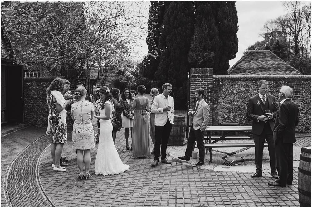 wedding guests at Herons Farm